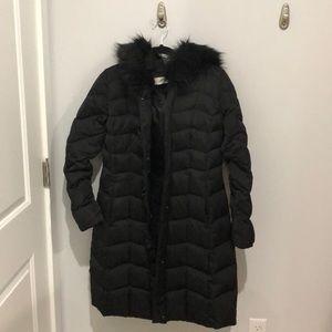 T Tahari Black Puffer Coat